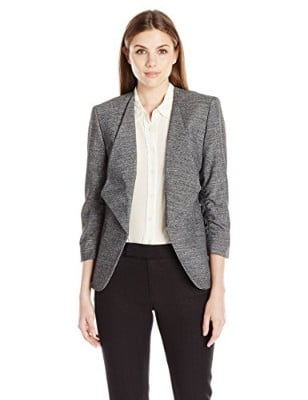 Nine West Women_s Tweed Flyaway Jacket