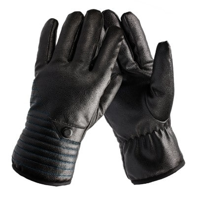 QXQY Men's Winter Waterproof Gloves Leather Gloves
