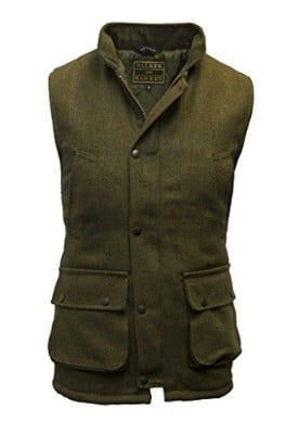 Walker and Hawkes Men_s Derby Tweed Shooting Country Gilet