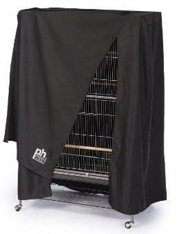 Prevue Hendryx Pet Products Large Night Bird Cage Cover, Black