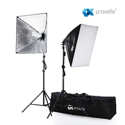 Proxelle 700W Photography Softbox Studio Photography Lighting, 24 x 24 Inches