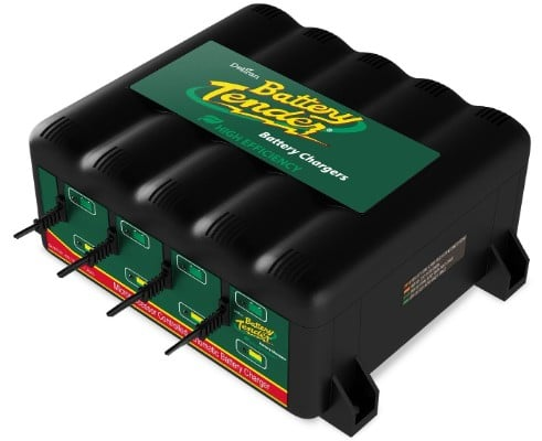 Battery Tender 022-0148-DL-WH 12-Volts 4- Bank Battery Management System