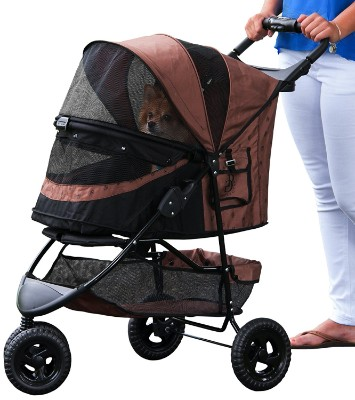 Pet Gear Special Edition No Zip Pet Stroller, Chocolate
