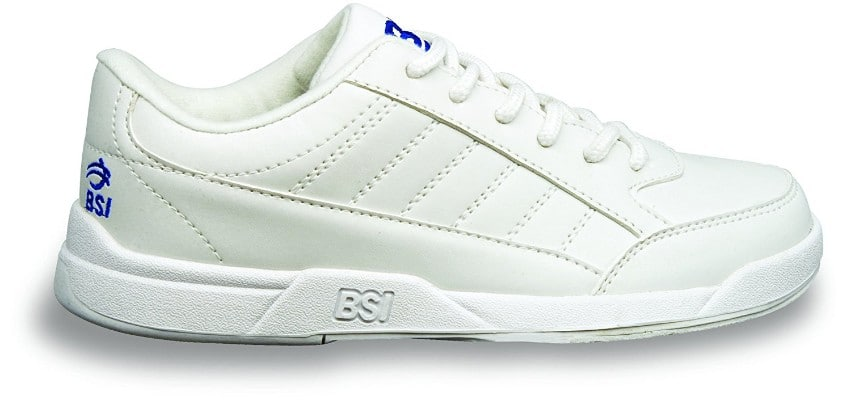 BSI Boy's White Basic #532 Bowling Shoes