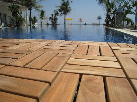 Bare Decor BARE-WF2009 Interlocking Flooring Tiles, Solid Teak Wood, (Pack of 10)