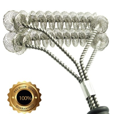 Grill Brush Bristle Free- BBQ Grill Cleaning Brush plus Scraper