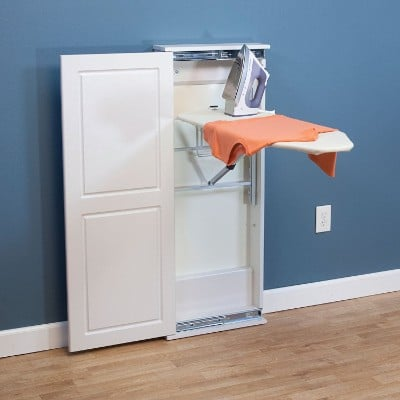 Household Essentials 18300-1 White Iron 'N Fold Floor Cabinet