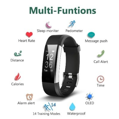 TwobeFit Waterproof Activity Tracker