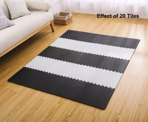 Superjare Interlocking Floor Tiles, 16 Tiles