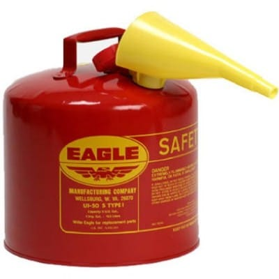 Eagle UI-50-FS 5-Gallon Red Galvanized Steel Type I Gasoline Safety Can