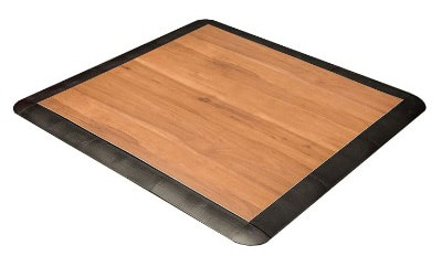 IncStores Practice Dance Floor, 3 x3 ft, Dark Maple