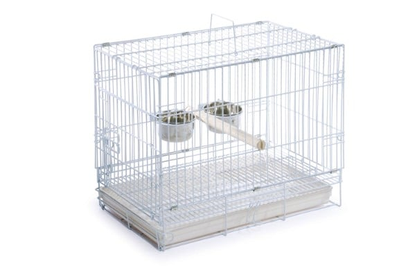 Prevue Hendryx 1305 Travel Bird Cage, White