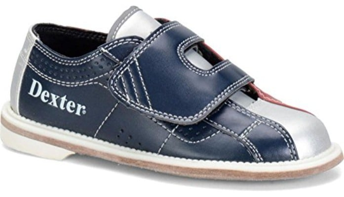 Dexter Bowling Youth Shoe, Red:Blue:Gray