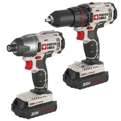 PORTER-CABLE PCCK604L2 Cordless Electric Drill, 20V Lithium-Ion