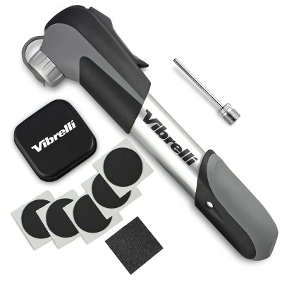 Vibrelli Mini Bike Pump Plus Glueless Puncture Repair Kit