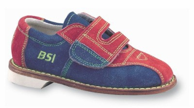 BSI Boys Suede Rental Bowling Shoes, Red:Blue