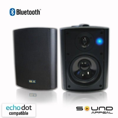 Sound Appeal Bluetooth 5.25 Weatherproof Patio Speakers (Black)