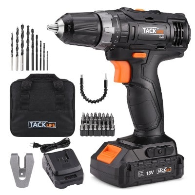 Tacklife 20V MAX Cordless Drill and Driver, 2.0Ah Lithium-Ion