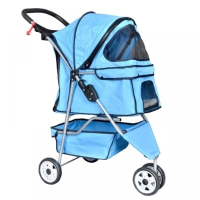 BestPet 3 Wheel Cat Dog Folding Travel Stroller