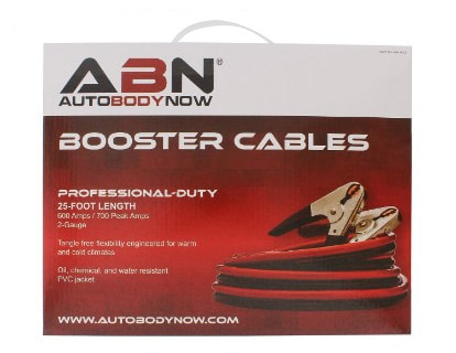 ABN 25 Feet Long Jumper Cable, 2-Gauge, 600 AMP