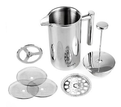 Secura French Press Coffee Maker, 18:10 Stainless Steel