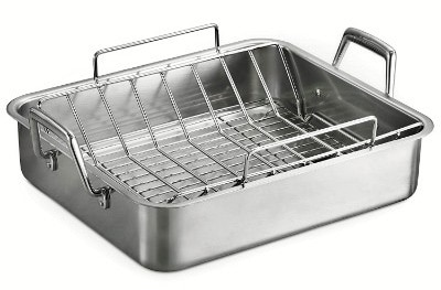 Tramontina 80203:006DS Gourmet Prima 16.5-Inch Stainless Steel Rectangular Roasting Pan