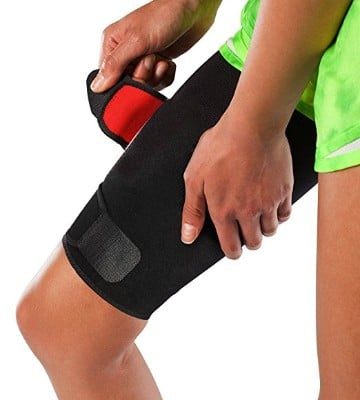 Adjustable Thigh Brace Support, Quadriceps Support and Thigh Wraps for Men and Women