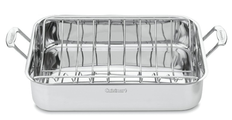 Cuisinart Chef's Classic 16-Inch Stainless Steel Rectangular Roaster with Rack, 7117-16UR