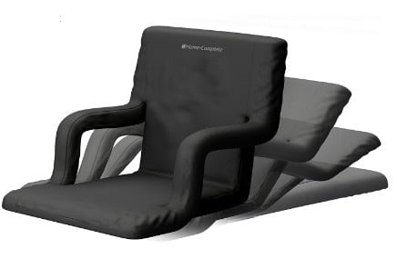 Extra Wide Stadium Seat Chair for Bleachers or Benches - Enjoy Padded Cushion Backs and Armrest