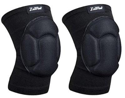 Luwint Volleyball Knee Pads Youth - High Elastic Sponge Knee Support Sleeves - Black, 1 Pair