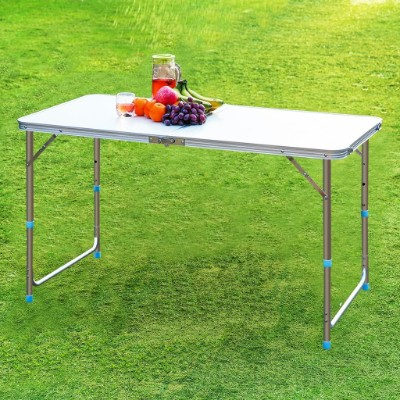 Finether Height Adjustable Aluminum Camping Portable Folding Table Multi Purpose