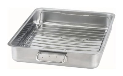 IKEA - KONCIS Stainless Steel Roasting Pan plus Grill Rack, 16x13 inches