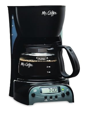 Mr. Coffee Programmable Coffee Maker, 4-Cup