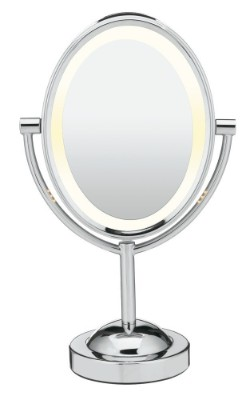 Conair Double-Sided Lighted Makeup Mirror - Lighted Vanity Mirror; 1x:7x Magnification