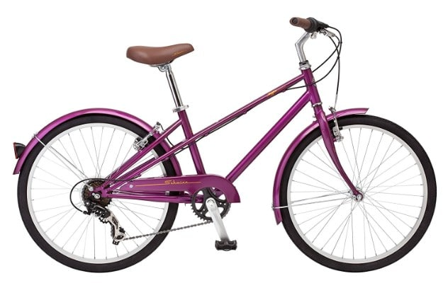 Schwinn Mifflin 24-Inch Wheel Hybrid Bicycle, Magenta