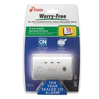 Kidde 21010045 Worry-Free Carbon Monoxide Alarm (C3010) with 10 Year Sealed Battery