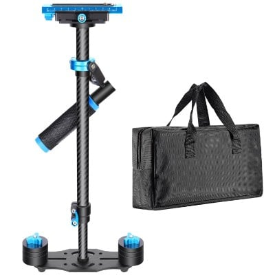 Neewer Carbon Fiber 24:60cm Handheld Stabilizer with Quick Release Plate 1:4 and 3:8 Screw