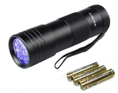 Black Light UV Flashlight UV Light, Vansky Blacklight 12 LED