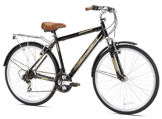 Northwoods Men's Crosstown 21 Speed Hybrid Bicycle, Black