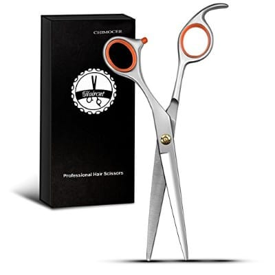 Chimocee Professional Hair Scissors, 6.5 Barber and Salon Razor Edge Hair Cutting Shears
