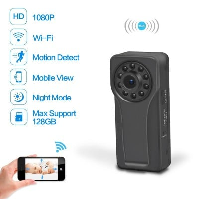 Youlanda Wifi Hidden Spy Camera with Clip Design and Night Vision, 1080P