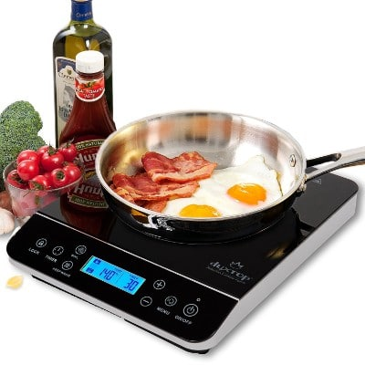 Duxtop LCD 9600LS Portable Induction Cooktop, 1800-Watt