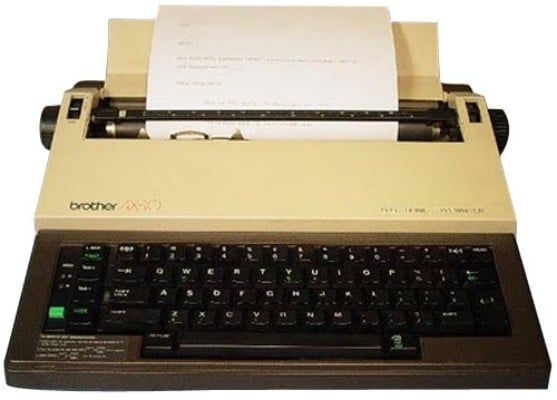 Rebuilt Discontinued Brother AX10 Manual Typewriters