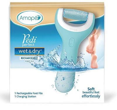 Amope Pedi Perfect Wet & Dry Rechargeable Electric Foot File