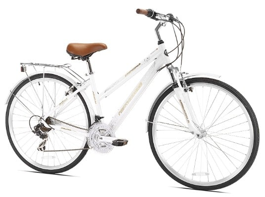 Northwoods Crosstown 21-Speed Ladies Hybrid Bicycle, White