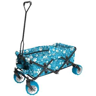 Creative Outdoor Distributors All-Terrain Folding Wagon, Print, Blue Paw