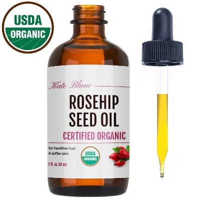 Rosehip Seed Oil by Kate Blanc. USDA Certified Organic, 100% Pure
