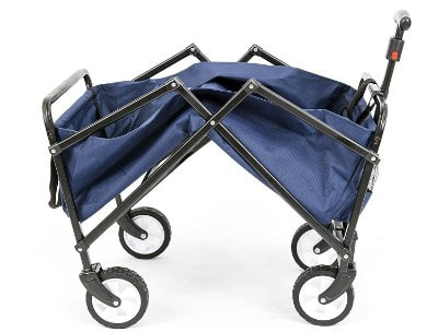 YSC Wagon Garden Folding Utility Shopping Cart, Beach Red (Navy Blue)