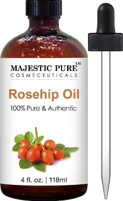Majestic Pure Rosehip Oil for Face, Nails, Hair and Skin, 100% Pure & Natural
