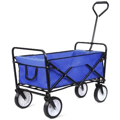 femor Collapsible Folding Outdoor Utility Wagon, Heavy Duty Garden Cart